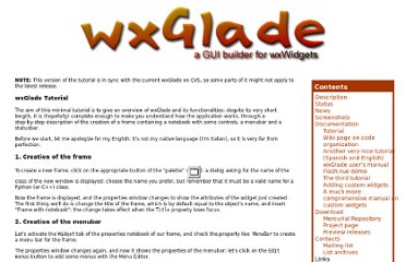 http://wxglade.sourceforge.net/tutorial.php
