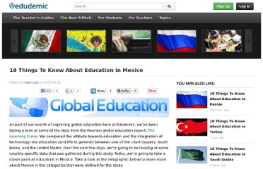 http://www.edudemic.com/2013/06/18-things-to-know-about-education-in-mexico/