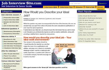 http://www.job-interview-site.com/how-would-you-describe-your-ideal-job.html