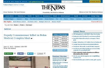 http://www.thenews.com.pk/article-105375-Quetta:-Deputy-Commissioner-killed-in-Bolan-Medical-Complex-blast-