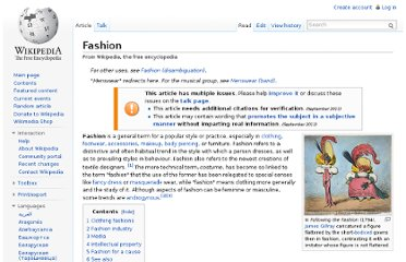 http://en.wikipedia.org/wiki/Fashion