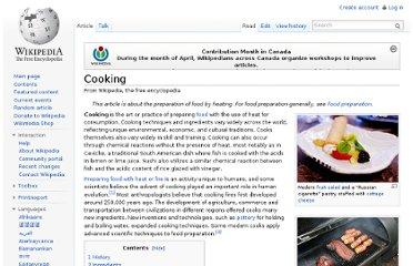 http://en.wikipedia.org/wiki/Cooking