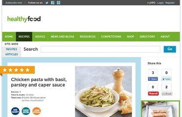 http://www.healthyfood.co.nz/recipes/2009/february/chicken-pasta-with-basil-parsley-and-caper-sauce