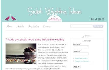 http://stylishweddingideas.com/articles/7-foods-you-should-avoid-eating-before-the-wedding