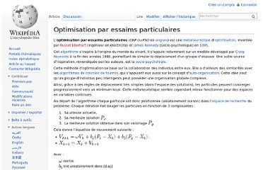http://fr.wikipedia.org/wiki/Optimisation_par_essaims_particulaires