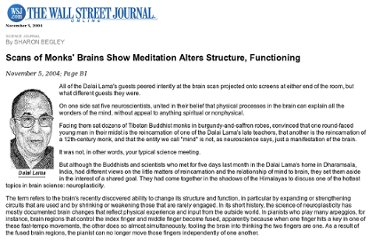 http://psyphz.psych.wisc.edu/web/News/Meditation_Alters_Brain_WSJ_11-04.htm