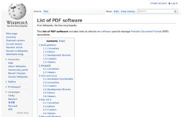http://en.wikipedia.org/wiki/List_of_PDF_software