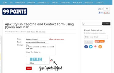 http://www.99points.info/2010/08/ajax-stylish-captcha-and-contact-form-using-jquery-and-php/