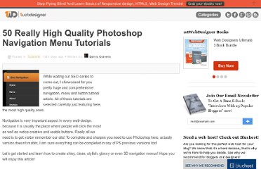 http://www.1stwebdesigner.com/tutorials/50-really-high-quality-photoshop-navigation-menu-tutorials/