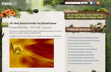 http://www.noupe.com/php/10-mod_rewrite-rules-you-should-know.html