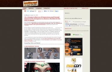 http://www.smashingapps.com/2009/08/30/70-ultimate-collection-of-inspirations-and-tutorial-resources-for-designers-to-discover-the-best-of-the-web-in-august.html