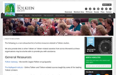 http://www.tolkiensociety.org/links.html