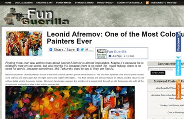 http://funguerilla.com/leonid-afremov-one-of-the-most-colorful-painters-ever/