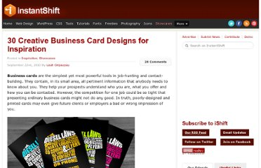 http://www.instantshift.com/2010/09/22/30-creative-business-card-designs-for-inspiration/