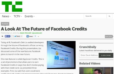 http://techcrunch.com/2010/04/21/a-look-at-the-future-of-facebook-credits/