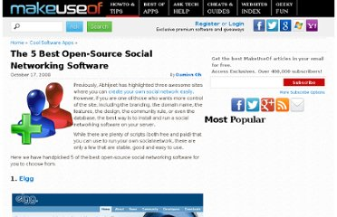 http://www.makeuseof.com/tag/the-5-best-open-source-social-networking-software/