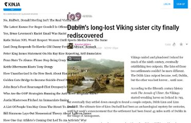 http://io9.com/5646181/dublins-long+lost-viking-sister-city-finally-rediscovered