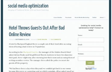 http://social-media-optimization.com/2010/09/hotel-throws-guests-out-after-bad-online-review/