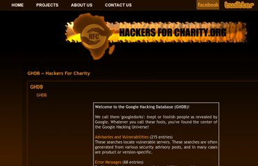 http://www.hackersforcharity.org/ghdb/