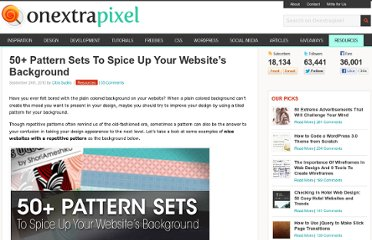 http://www.onextrapixel.com/2010/09/24/50-pattern-sets-to-spice-up-your-websites-background/