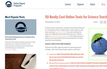 http://www.onlinedegreeprograms.com/blog/2010/50-really-cool-online-tools-for-science-teachers/