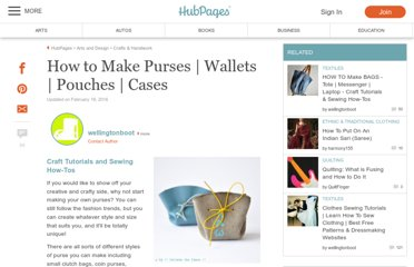 http://www.squidoo.com/how-to-make-sew-a-purse-wallet-pouch-case-craft-tutorials-sewing