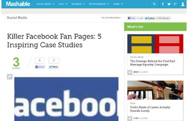 http://mashable.com/2009/06/16/killer-facebook-fan-pages/