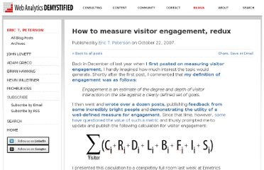 http://blog.webanalyticsdemystified.com/weblog/2007/10/how-to-measure-visitor-engagement-redux.html