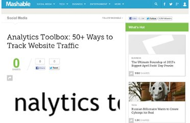 http://mashable.com/2007/06/25/analytics-toolbox/