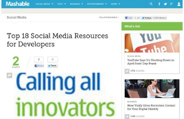 http://mashable.com/2009/05/29/social-media-developer-resources/