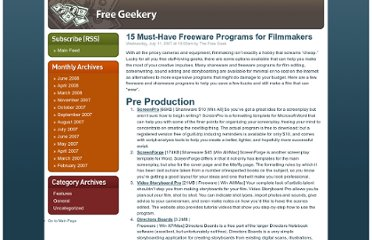 http://www.rewardprograms.org/thefreegeek/features/15_musthave_freeware_programs_for_filmmakers.html