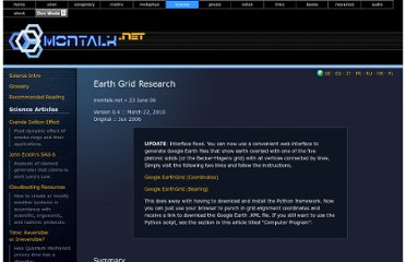 http://montalk.net/science/115/earth-grid-research