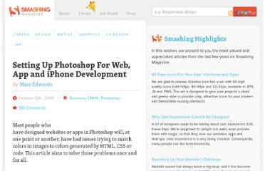 http://www.smashingmagazine.com/2009/10/12/setting-up-photoshop-for-web-app-and-iphone-development/