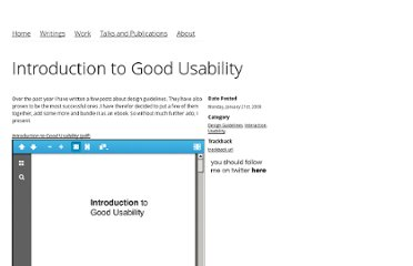 http://www.peterpixel.nl/writings/introduction-to-good-usability/