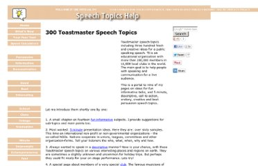 http://www.speech-topics-help.com/toastmaster-speech-topics.html