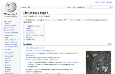 http://en.wikipedia.org/wiki/List_of_rock_types