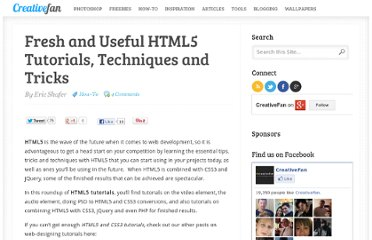 http://creativefan.com/fresh-and-useful-html5-tutorials-techniques-and-tricks/