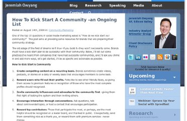 http://www.web-strategist.com/blog/2009/08/14/how-to-kick-start-a-community-an-ongoing-list/