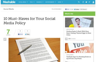 http://mashable.com/2009/06/02/social-media-policy-musts/