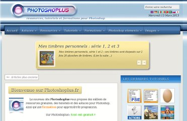 http://photoshoplus.info/pages/ressources.php/pages/accueil.htm