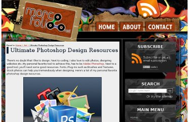 http://www.marcofolio.net/photoshop/ultimate_photoshop_design_resources.html#Fonts