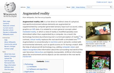 http://en.wikipedia.org/wiki/Augmented_reality