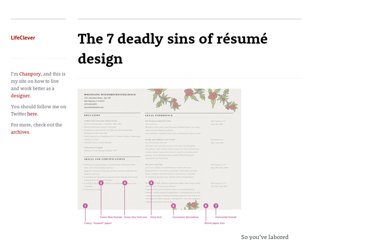 http://www.lifeclever.com/the-7-deadly-sins-of-resume-design/