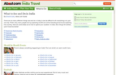 http://goindia.about.com/od/whattosee/u/what-to-do-in-india.htm