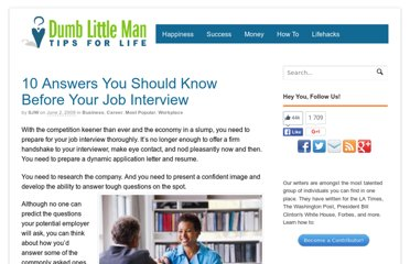 http://www.dumblittleman.com/2009/06/10-answers-you-should-know-before-your.html