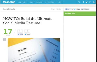 http://mashable.com/2009/01/13/social-media-resume/