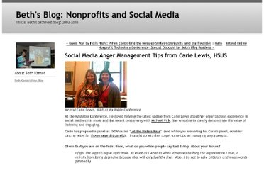 http://beth.typepad.com/beths_blog/2009/08/social-media-anger-management-tips-from-carie-lewis-hsus.html