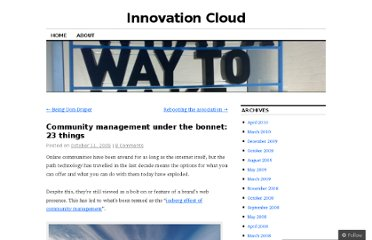 http://innovationeye.wordpress.com/2009/10/11/community-management-under-the-bonnet-23-things/