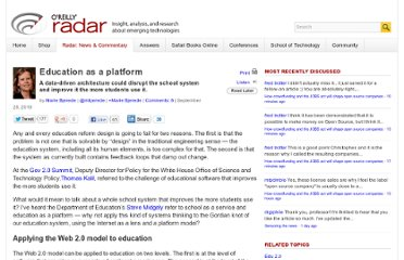 http://radar.oreilly.com/2010/09/education-as-a-platform.html