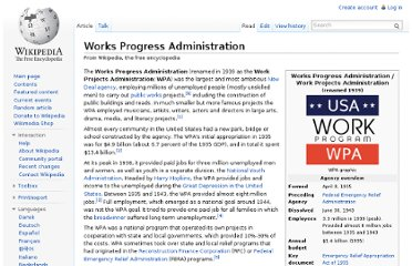 http://en.wikipedia.org/wiki/Works_Progress_Administration